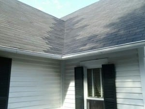 Roof with shingles