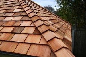 Cedar shake roof