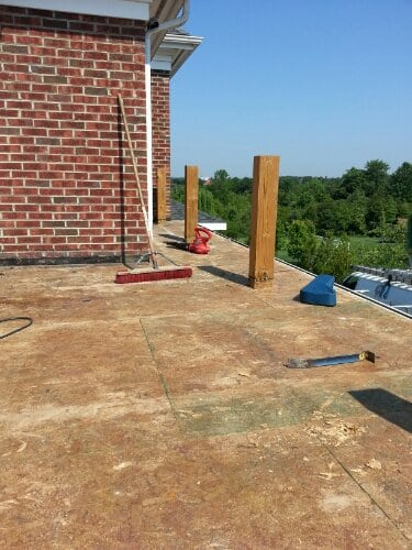 Flat roof project in progress