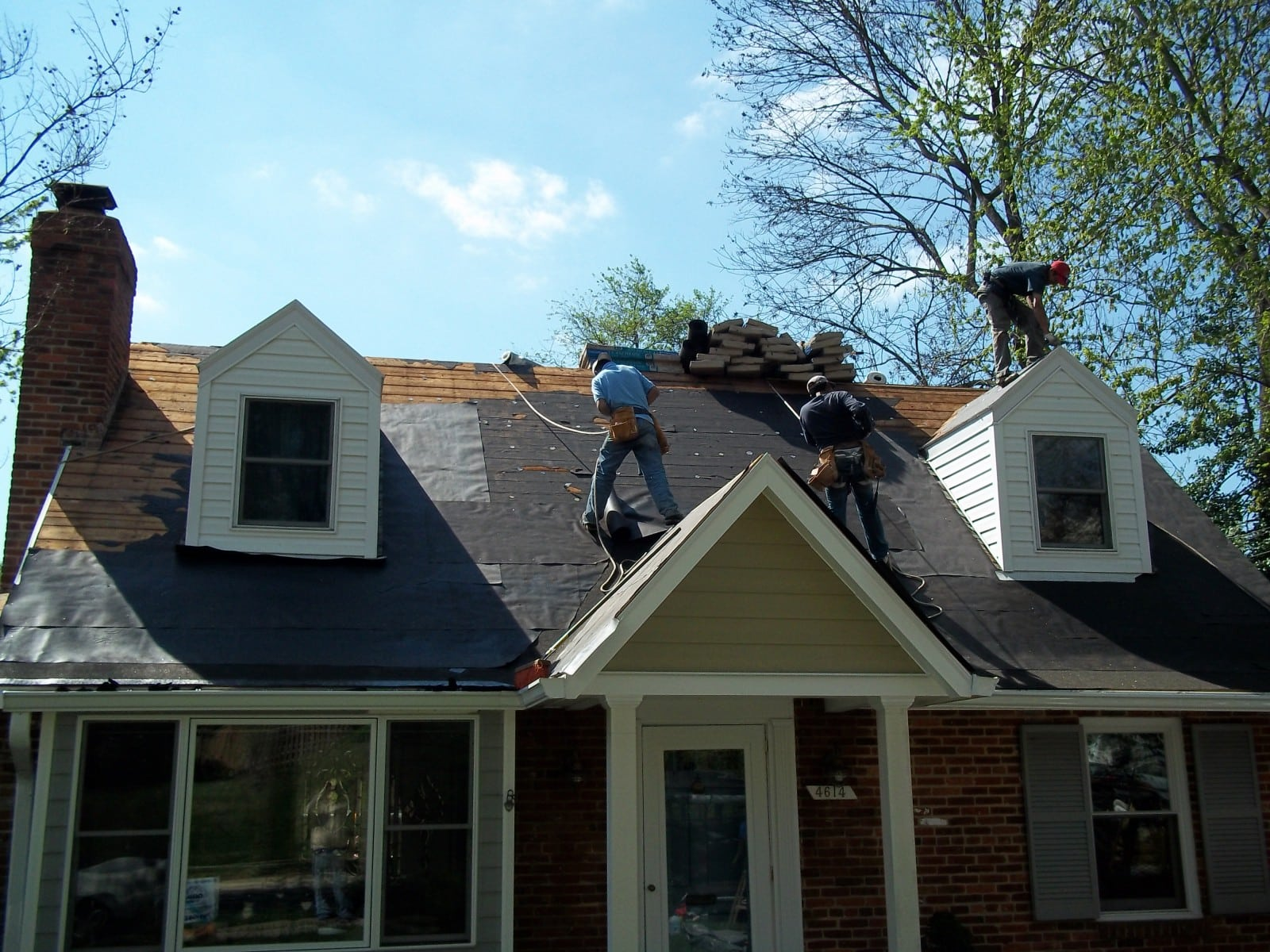 Good In Progress Roof Replacement In Bethesda MD