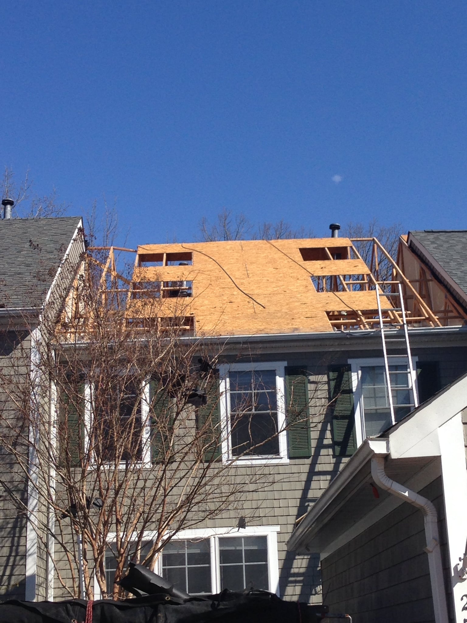Roof Replacement Progress In Laurel MD