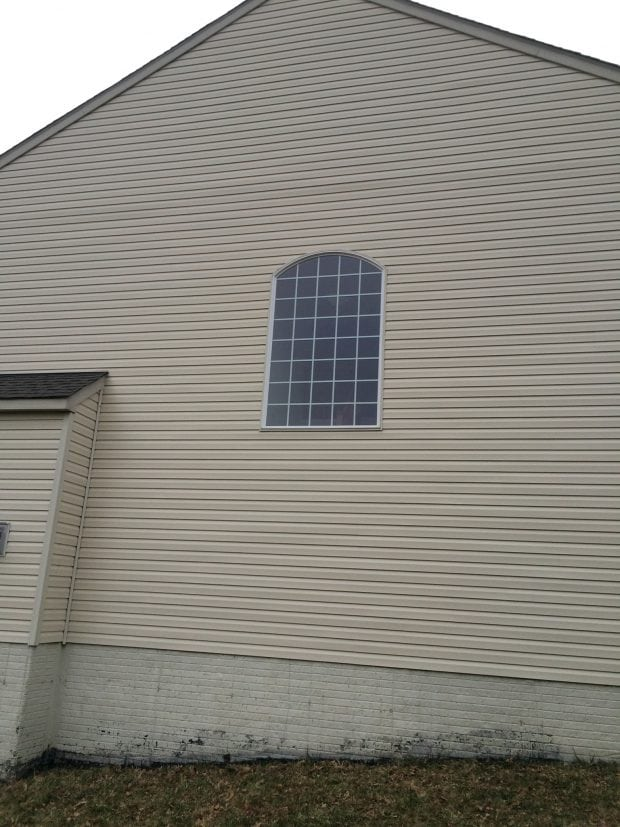 Completed vinyl siding installation