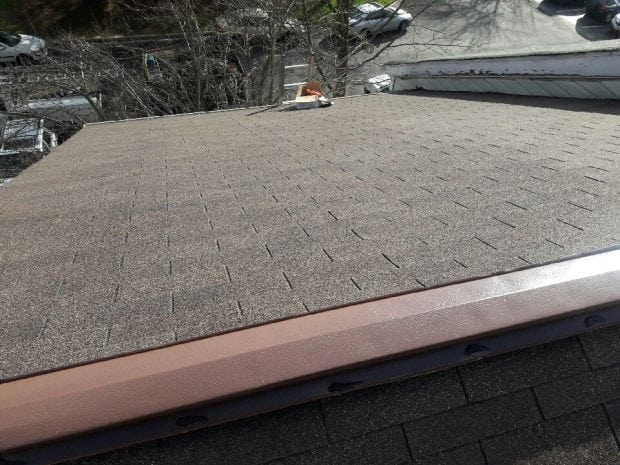 Finished roof