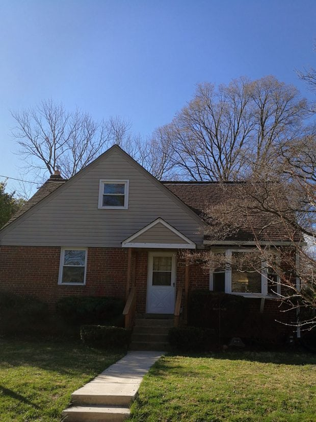 Kensington MD house with roof before tearoff